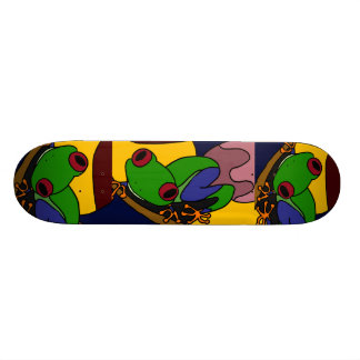 AK- Awesome Tree Frog Art Skateboard