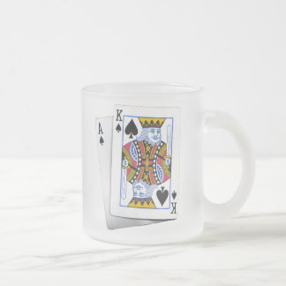 AK FROSTED GLASS COFFEE MUG