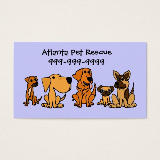 AK- Fun Puppy Dogs Cartoon Business Cards