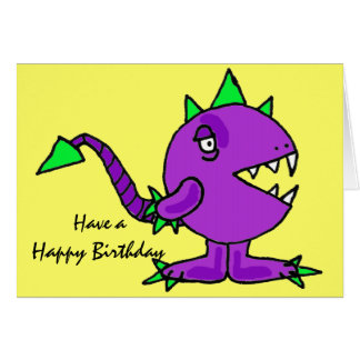 AK- Funny Monster Birthday Card