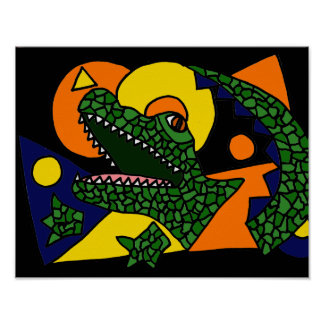 AK- Gator Art Poster