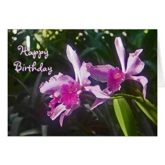 AK- Happy Birthday Orchid Card