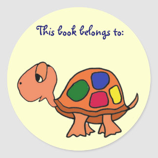 AK- la tortuga este libro pertenece a: pegatinas Pegatinas Redondas