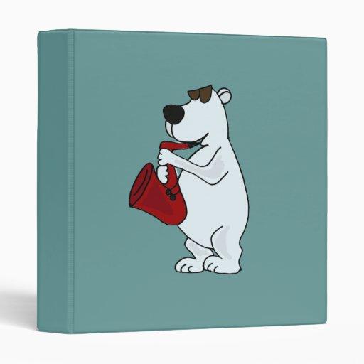 AK- Polar Bear Playing Saxophone Binder