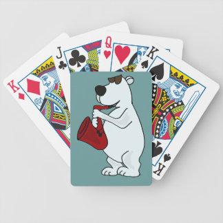 AK- Polar Bear Playing Saxophone Playing Cards