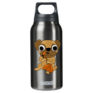 AK- Pug Playing Saxophone Insulated Water Bottle