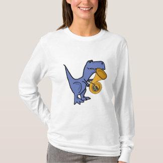 AK- T-Rex Dinosaur Playing the French Horn Shirt