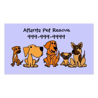 AK- tarjetas de visita del dibujo animado de los