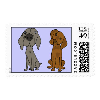 AK- Weimaraner and Pointer Postage Stamps