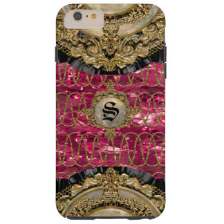 Aka monograma elegante de Crimstone 6/6s más Funda De iPhone 6 Plus Tough