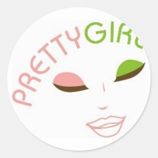 AKA Pretty Girl Classic Round Sticker