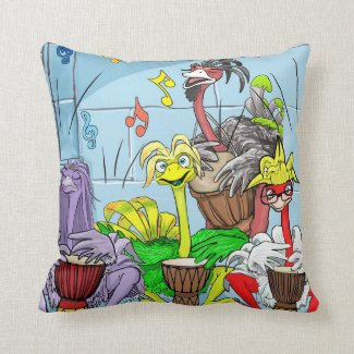 Akachi and Gang Throw Pillow