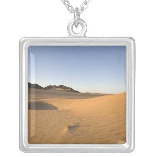 Akakus, Sahara desert, Fezzan, Libya. Square Pendant Necklace