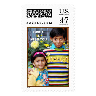 akash saloni, LOVE U&MISS YOU Postage Stamp