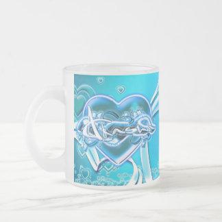 Akasha Frosted Glass Coffee Mug