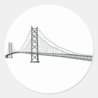 Akashi Kaikyo Suspension Bridge: Pearl Bridge Classic Round Sticker