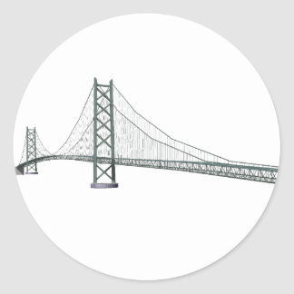 Akashi Kaikyo Suspension Bridge: Pearl Bridge Round Stickers