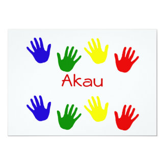 Akau 5x7 Paper Invitation Card
