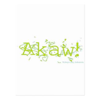 ¡Akaw! Tarjeta Postal