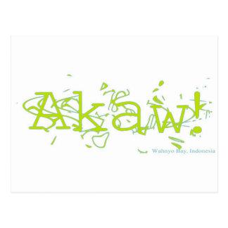¡Akaw! Postales