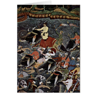 Akbar Crosses The Ganges By Ikhlas Cards