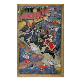 Akbar domestica el elefante salvaje, Hawa'i Póster
