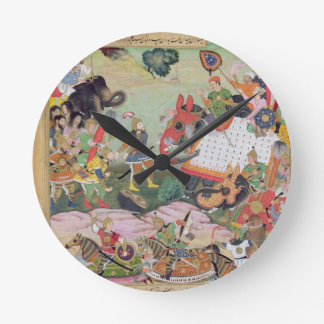 Akbar receiving the drums and standards captured f round clock