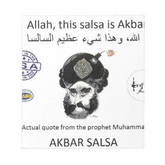 Akbar Salsa brand gear Notepad