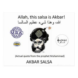 Akbar Salsa brand gear Postcard