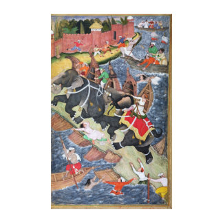 Akbar tames the Savage Elephant, Hawa'i Gallery Wrapped Canvas