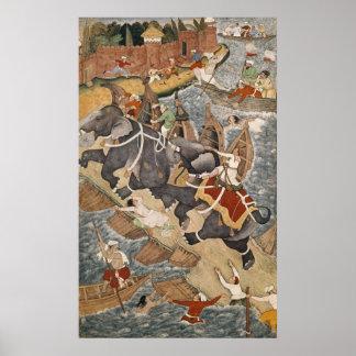 Akbar Tames the Savage Elephant, Hawa'i Print