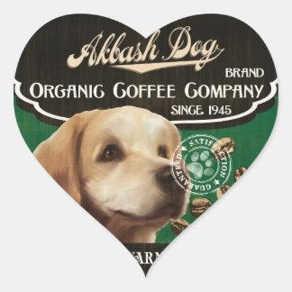 Akbash Dog Brand – Organic Coffee Company Heart Sticker