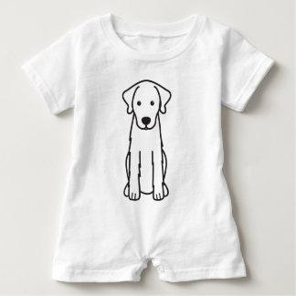 Akbash Dog Cartoon Baby Romper