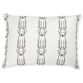 Akbash Dog Cartoon Pet Bed