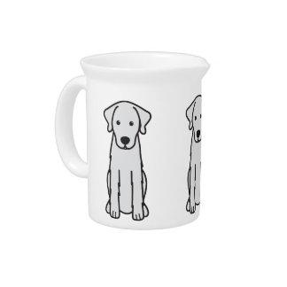 Akbash Dog Cartoon Beverage Pitchers