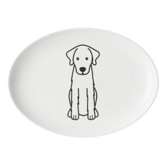 Akbash Dog Cartoon Porcelain Serving Platter