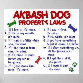 Akbash Dog Property Laws Poster