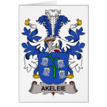 Akeleie Family Crest Cards