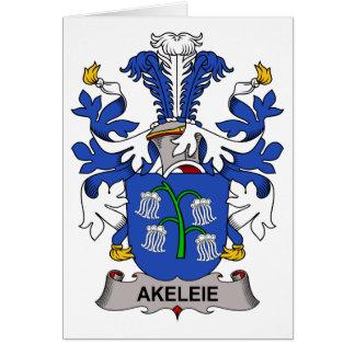 Akeleie Family Crest Greeting Card
