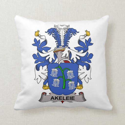 Akeleie Family Crest Pillow