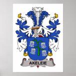 Akeleie Family Crest Print