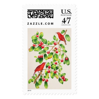 Akepa hawaiano sello postal