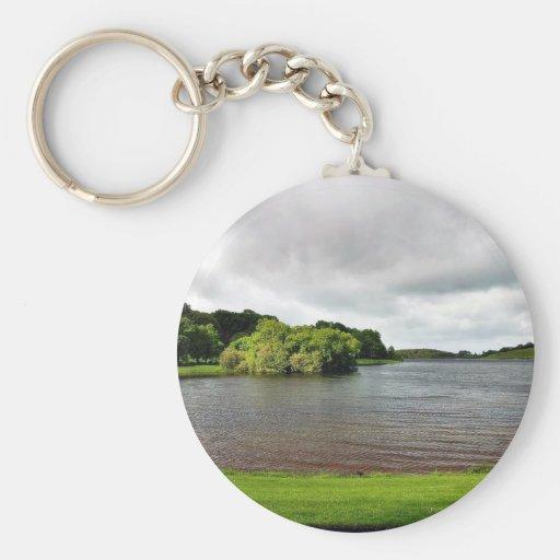 Akes Lough Gur Clouds Trees Ireland Key Chain