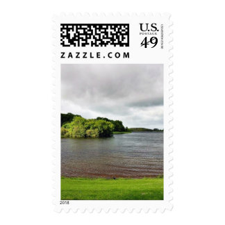 Akes Lough Gur Clouds Trees Ireland Stamp