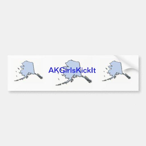 AKGirlsKickIt Bumper Stickers