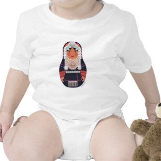 Akha Girl Of Thailand Matryoshka Infant Creeper