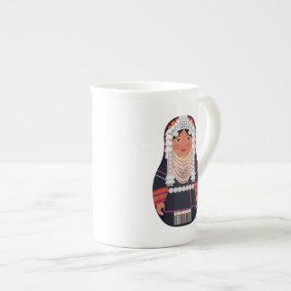 Akha Girl Of Thailand Matryoshka Mug Porcelain Mug