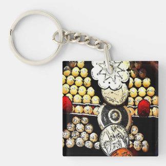 Akha Hill Tribe Headdress Acrylic Key Chain