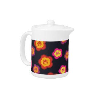 Akha of Thailand Floral  Teapot