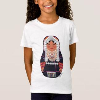 Akha Thailand Matryoshka Girls Baby Doll (Fitted) T-Shirt
